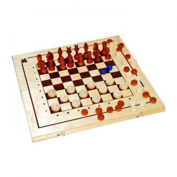Шахматы, шашки,нарды 3в1