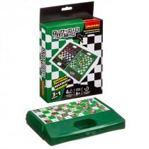 шахматы, шашки, змейки и лестницы 3в1