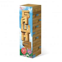 Башня 54 дет. в картонной коробке (дерево)